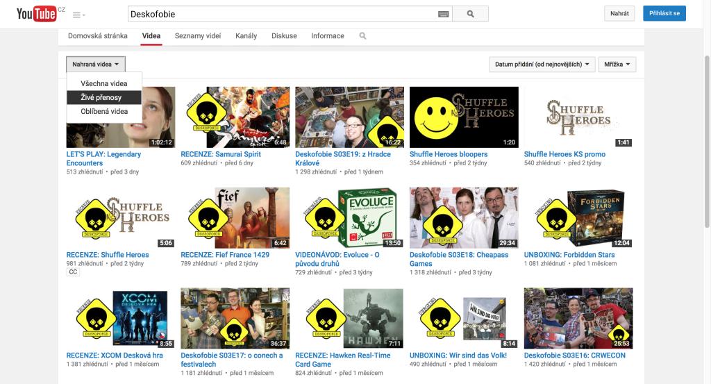 YouTube stream 1